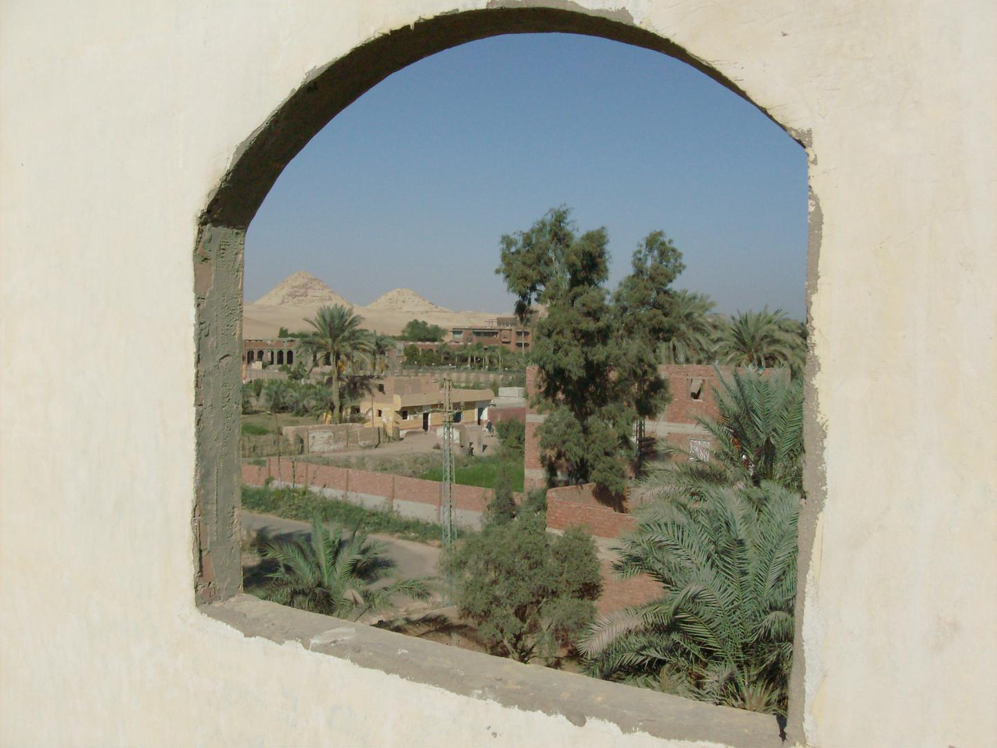 View at Abu Sir pyramids