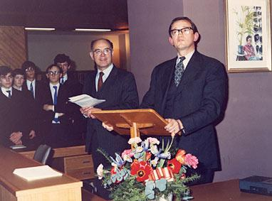 Opening van de Wodehouse Library in 1981