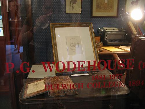 Wodehouse Archive corner in de Wodehouse Library