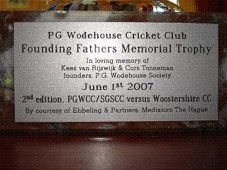 PGWCC Founding Fathers Memorial Trophy