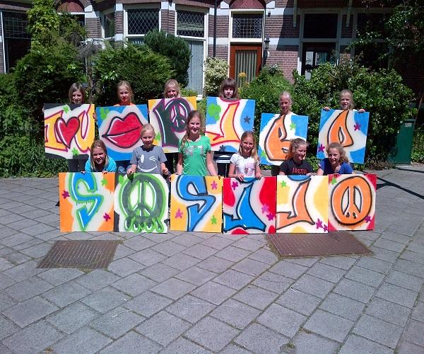 graffiti workshop kinderfeestje