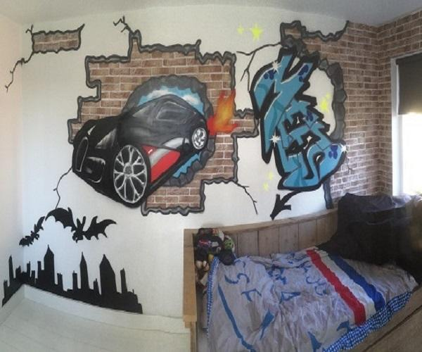 graffiti muur kinderkamer