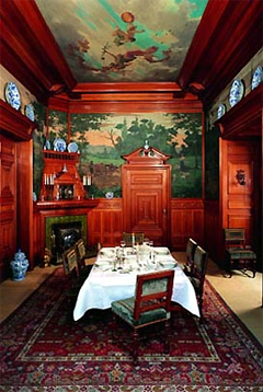Decorative paintings in the former dining room of Simon van Gijn - Willy Martens