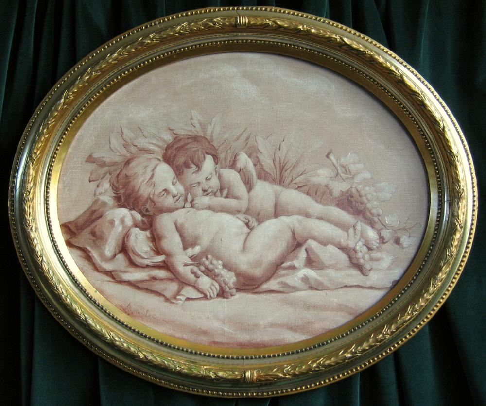 overdoor sleeping putti